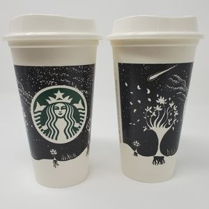 "Starbucks Reusable ""Starry Night Sky"" Travel cup"